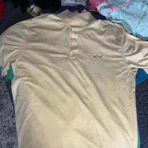 Greg Norman Pale Yellow Short Sleeve Golf Shirt